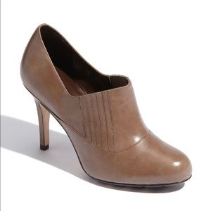 Cole Haan Air Talia Leather Ankle Bootie Tan Beige